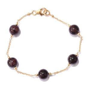 Jewelry - NEW Mozambique Garnet 14K YG Over Silver Bracelet